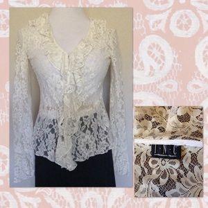 Beautiful I.N.C. Vintage Lace Blouse